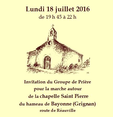 Marche pri re la chapelle saint pierre au hameau de bayonne grignan di - Marche saint pierre horaire ...